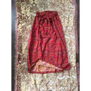 Vintage 60s psychedelic paisley print skirt, MAXI